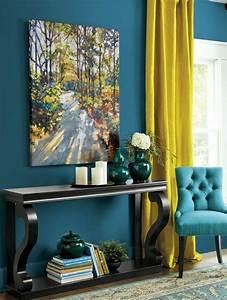 Rideau Jaune Et Bleu : 1001 id es cr er une d co en bleu et jaune conviviale deco and home pinterest deco bleu ~ Teatrodelosmanantiales.com Idées de Décoration
