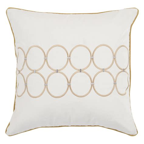 white and gold decorative pillows surya chain white gold decorative pillow white 9401