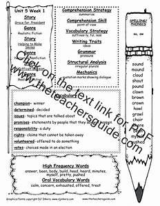 Wonders Second Grade Unit Five Week One Printouts