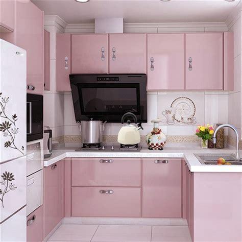 vinyl covered kitchen cabinet doors مطبخ وردي 8848