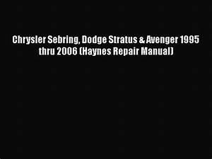 1995 Chrysler Sebring Service Manual