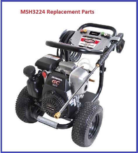 174 msh3224 pressure washer parts accessories