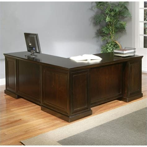 l shaped desk in espresso kathy ireland home fulton 68 quot rhf l shaped executive desk