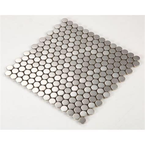Stainless Steel Tile with Base Kitchen Backsplash Penny