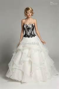 black dresses for weddings 30 black and white wedding dresses combination fashion fuz