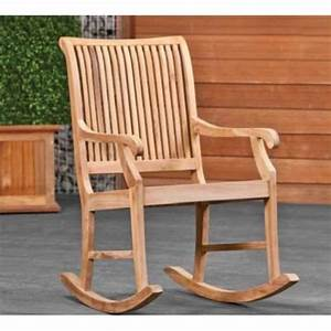 Chaise à Bascule Pas Cher : chaise a bascule en teck relax pas cher livraison incluse ~ Teatrodelosmanantiales.com Idées de Décoration