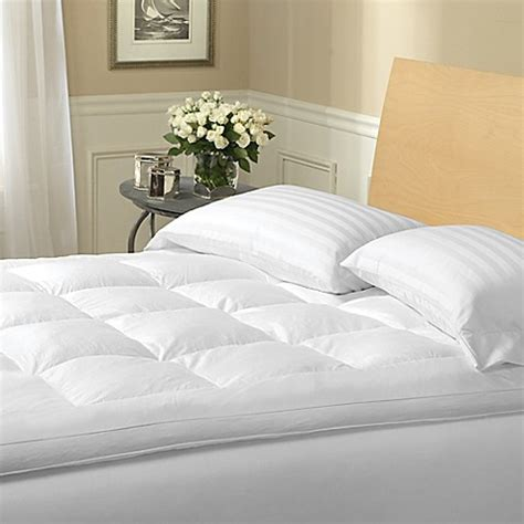 bed bath and beyond mattress topper 2 inch featherbed mattress topper bed bath beyond
