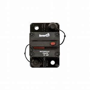 Buyers Cb60pb 60 Amp Circuit Breaker  Manual Reset   26 03