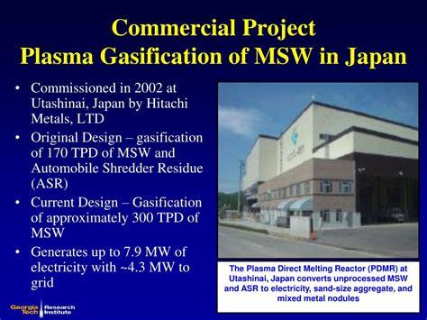 plasma arc gasification  municipal solid waste