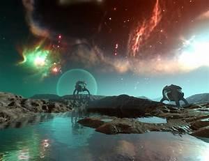Nebula Landscape - Pics about space