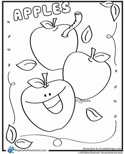 Apple Coloring Preschool Apples Pages Preschoolers Worksheets
