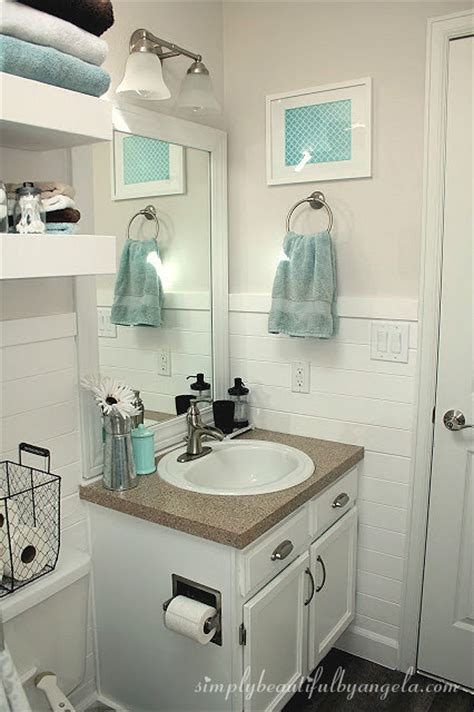 bathroom decorating ideas for apartments shiplap in the bathroom simply beautiful by angela