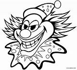 Clown Scary Drawing Clowns Coloring Pages Colouring Evil Circus Result Faces sketch template