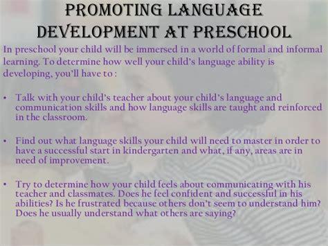 language development in preschool years 656 | language development in preschool years 4 638