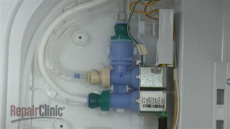 whirlpool refrigerator water inlet valve  youtube