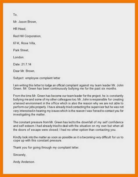 sample grievance letter  supervisor