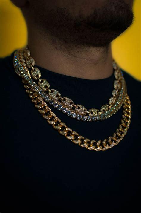 gucci link tennis chain diamond cuban link chain