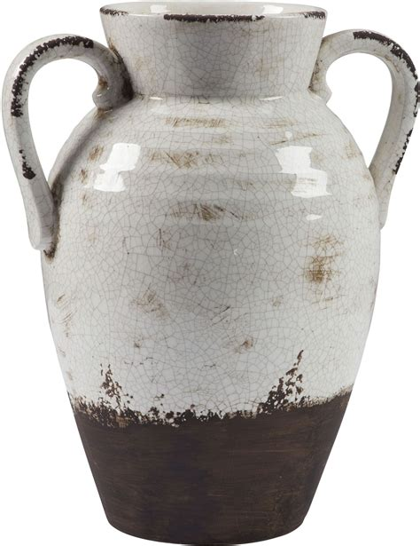 Large White Vase by Dion Distressed White Large Vase From Coleman