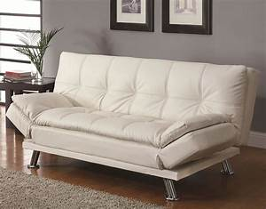 White click futon sofa bed furniture outlet in chicago for White sofa bed