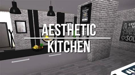 roblox   bloxburg aesthetic kitchen  youtube