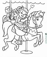 Horse Coloring Pages Kid Drawing Horses Printable Colouring Pony Sheets Printing Toy Carousel Fun Elephant Dog Getdrawings Children Pal Cool sketch template