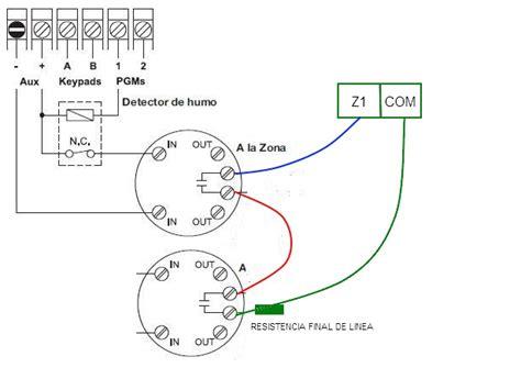 solucionado instalar detector humo en a2k8 o dsc 585
