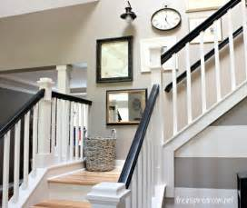 Grey Carpet Stair Treads by Black Painted Stair Rail Quotes