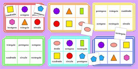 Formas Geométricas 2d  Bingo  Formas, Geometría, Cuadrado, Círculo