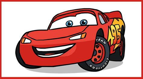 cars characters drawings how to draw lightning mcqueen cars disney pixar youtube