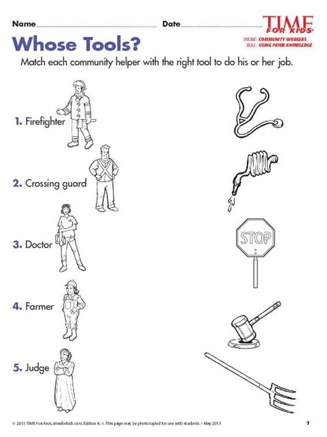 grade 1 community helpers worksheets educa 231 227 o