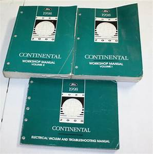 1998 Ford Continental Service Manual  U0026 Wiring Diagram