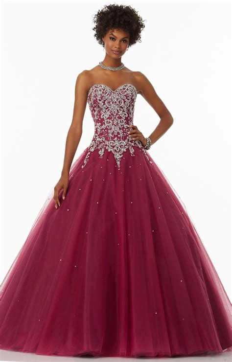 mori lee prom  strapless sweetheart neckline full