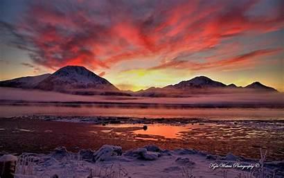 Alaska Twilight Cook Wallpapers Widescreen Inlet