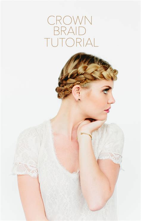 crown braid tutorial  wed