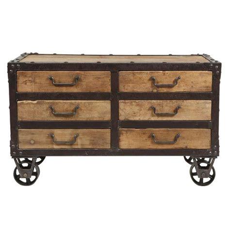 meuble billot cuisine commode à roulettes fabric mobilier industriel pour la