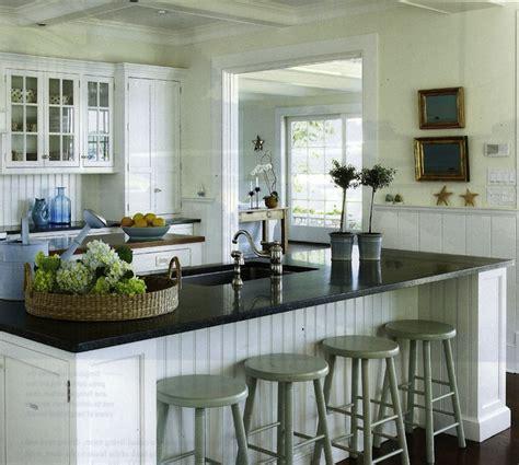 cottage kitchen islands beadboard cabinets design ideas