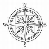 Compass Rose Coloring Clip Printable Handmade Clipart Drawing sketch template