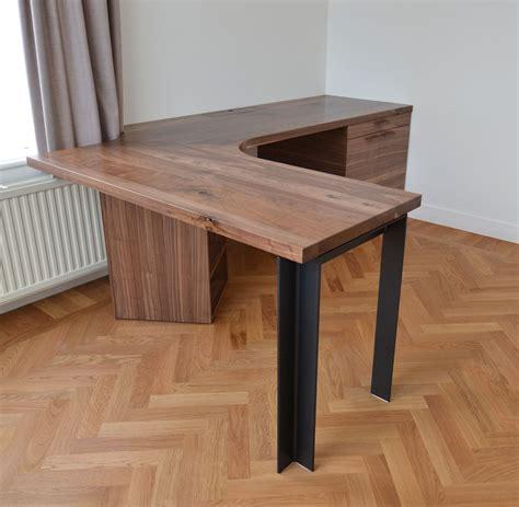 corner desk with storage great wood slab corner desk with storage and steel legs