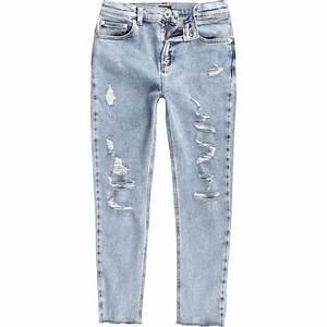 Boys light blue Sid ripped skinny jeans - Denim - Sale - boys