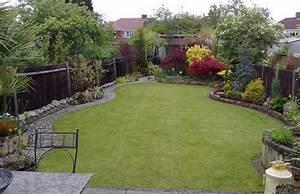 Idee Amenagement Jardin : amenagement jardin rectangulaire ~ Melissatoandfro.com Idées de Décoration
