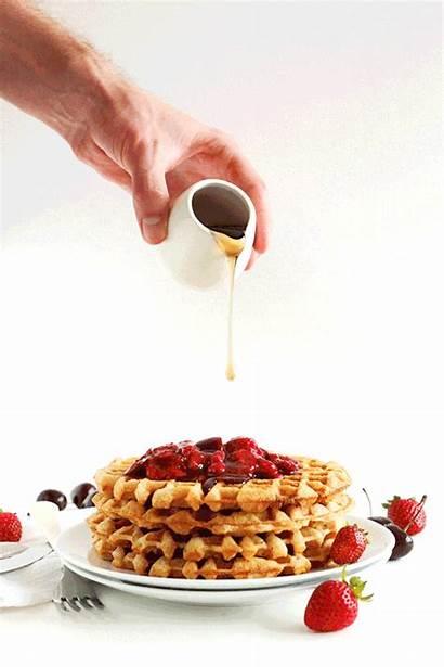 Waffles Waffle Gifs Breakfast Vegan Animated Delicious