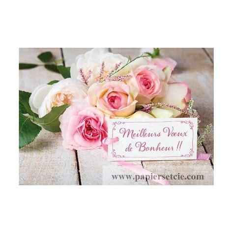 carte de voeux pour mariage à imprimer carte f 233 licitations mariage quot meilleurs voeux de bonheur quot