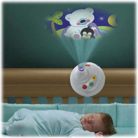 mobile baby crib light projection plush animal