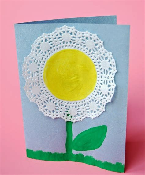 spring flower craft      paper  glue