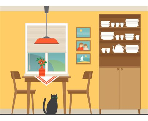 Dining Room Clipart Images by Best Dining Room Illustrations Royalty Free Vector