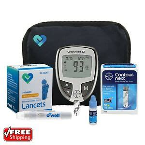 diabetes testing kit blood sugar glucose meter machine