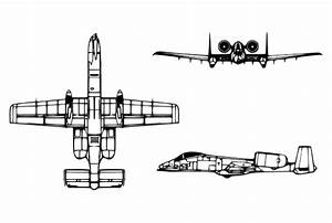 File A-10a Thunderbolt Ii Diagram Svg