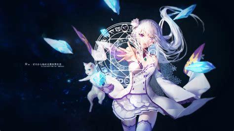 Rezero Emilia 1080p 60fps With Bgm Wallpaper Engine Anime Yuinime