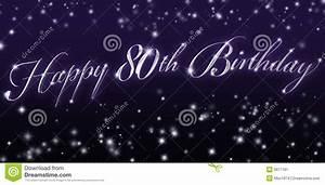 Happy, 80th, Birthday, Banner, Stock, Illustration