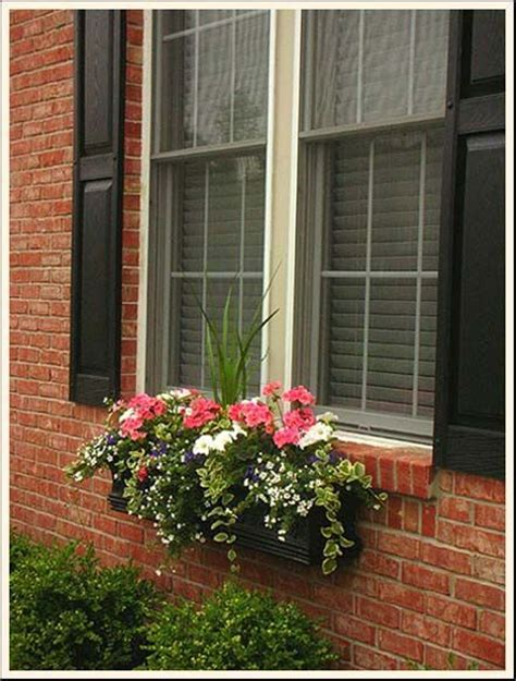 window flower box gardening landscaping ideas